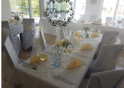 Výzdoba svadby v reštaurácii Sentami Žilina
