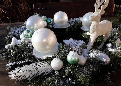 adventný veniec bielo tyrkysový