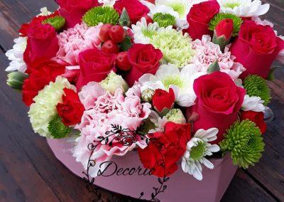 flowerbox Srdce pestre