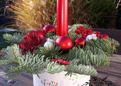 flowerbox vianočný
