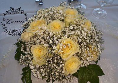 ikebana smotanové ruže