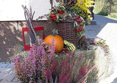 jesenná výzdoba dvora