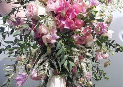 svadobná kytica Ruže a hortenzie