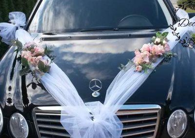 výzdoba svadobného auta Pastelová jemnosť