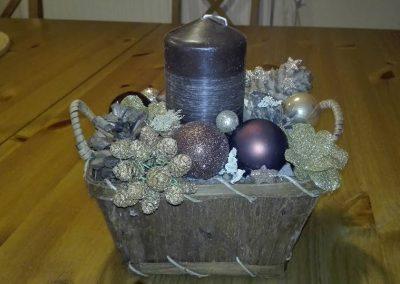 vianočný košík hnedý